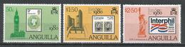 Anguilla 1980. Scott 391-393a (MNH) London International Stamp Exhibition ** Complet Set - Anguilla (1968-...)