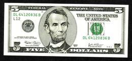 USA, 5$, 2003, UNCL - Billets De La Federal Reserve (1928-...)
