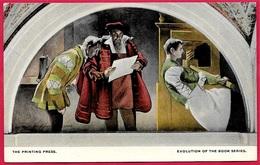 CPA AK Post Card WASHINGTON DC - Library Of Congress - Mural Painting ( GUTENBERG ) ** Imprimerie - Washington DC