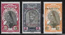 Ethiopia Scott # 217-19 Mint Hinged Zauditu, Tafari Surcharged, 1931 - Ethiopia