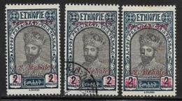 Ethiopia Scott # 218, 221, 226 Mint Hinged Tafari, Surcharged, 1931 - Ethiopia