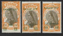 Ethiopia Scott # 219 Mint Hinged, 222 Unused No Gum, 227 Used Zauditu, 1931 - Ethiopia