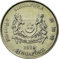 Monnaie, Singapour, 20 Cents, 2010, Singapore Mint, TTB, Copper-nickel, KM:101 - Singapour