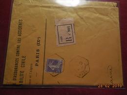 Lettre De 1907 A Destination De St Malo En Recommandé - 1877-1920: Période Semi Moderne