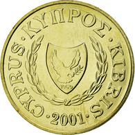 Monnaie, Chypre, 5 Cents, 2001, SUP, Nickel-brass, KM:55.3 - Chypre