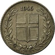Monnaie, Iceland, 25 Aurar, 1946, TTB, Copper-nickel, KM:11 - Islande