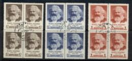 Russia 1958 Karl Marx 140th Birth Anniv. Blk4 CTO - 1923-1991 USSR