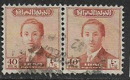 Iraq, 1954, 40c , Definitive, Pair Used - Iraq