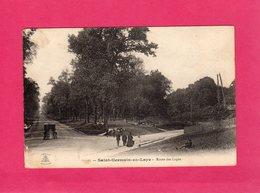 78 Yvelines, Saint-Germain-en-Laye, Route Des Loges, Animée, Voiture, 1915, F.M., (L'Abeille) - St. Germain En Laye