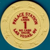 $1 NCV Casino Chip. Palace Station, Las Vegas, NV. I04. - Casino