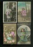 Beau Lot De 60 Cartes Postales De Fantaisie  Enfant  Fillette   Mooi Lot 60 Postkaarten Van Fantasie  Kind -  60 Scans - Cartes Postales