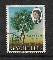 Seychelles, 1965, 75c Coco De Mer Palm , Used* - Seychelles (...-1976)