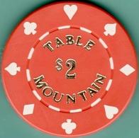 $2 Casino Chip. Table Mountain, Fryant, CA. I05. - Casino