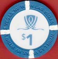 $1 Casino Chip. Wynn, Las Vegas, NV. I05. - Casino