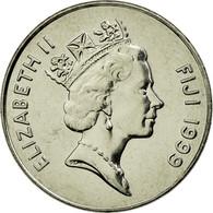 Monnaie, Fiji, Elizabeth II, 10 Cents, 1999, SUP, Nickel Plated Steel, KM:52a - Figi