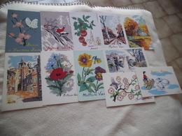 LOT DE 11 ILLUSTRATIONS CARTES DE VOEUX ..SIGNE R. COTTE - Postkaarten