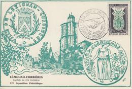 Carte   FRANCE   Fête  De   L' Amitié   Internationale    LEZIGNAN  CORBIERES   1961 - Postmark Collection (Covers)