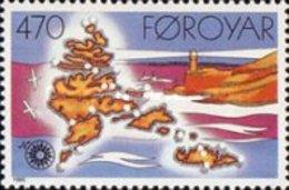 MNH STAMPS Faroe-Islands - Faroe-Islands - Lighthouses -1985 - Faroe Islands