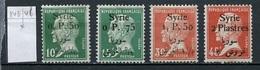 Syrie - Syrien - Syria 1924-25 Y&T N°143 à 146 - Michel N°(?) * -  Type Pasteur - Syria (1919-1945)