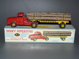 Dinky-Toys Transport De Bois-Tracteur Willemme Avec Semi Remorque Fardier-Fabriqué En France Par Méccano - Boite 36A.. - Dinky