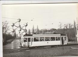 Bruxelles, Laeken  ,foto , Photo , Tram électrique , Tramway ;Laeken ,Heysel , Atomium - Transport Urbain En Surface