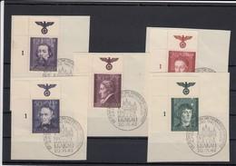 GG Generalgouvernement MiNr. 96-100, Gestempelt, E1, Künstler Sonderstempel - Besetzungen 1938-45