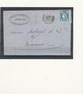 N°60  VARIETE  SUR LETTRE - 1871-1875 Ceres