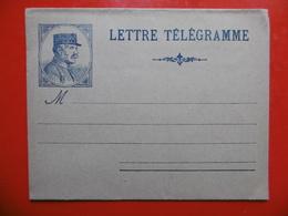 LETTRE TELEGRAMME ILLUSTRE VIERGE - Télégraphes Et Téléphones