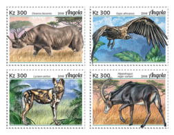 Angola  2018  Fauna  Rhino  , Endangered Species Of Angola S201901 - Angola
