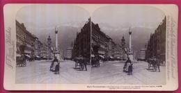 AUTRICHE 006 - Maria Theresienstrasse, Rue Principale D'INNSBRUCK  Magnifique Capitale Tyrolienne - Stereoscopio