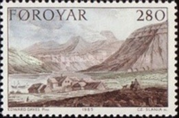 MNH STAMPS Faroe-Islands - Paintings - Stanley's Journey -1985 - Faroe Islands