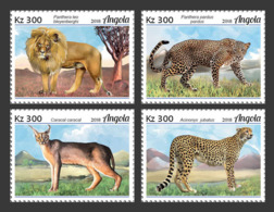 Angola  2018  Fauna   Lion, Cheeath, Big Cats Of Angola  S201901 - Angola