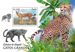 Angola  2018  Fauna   Serval , Cheeath  Big Cats Of Angola  S201901 - Angola