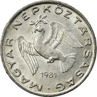 Monnaie, Hongrie, 10 Filler, 1981, Budapest, TTB, Aluminium, KM:572 - Hongrie