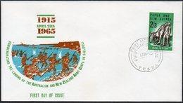 PAPUA NEW GUINEA, 1965 ANZAC FDC - Papua Nuova Guinea