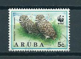 1994 Aruba Eule,owl,uil Used/gebruikt/oblitere - Curaçao, Antilles Neérlandaises, Aruba