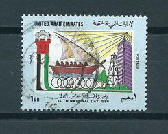 1986 VAE Independence Used/gebruikt/oblitere - Verenigde Arabische Emiraten
