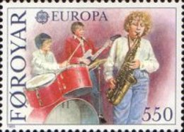 MNH STAMPS Faroe-Islands - EUROPA Stamps - European Music Year  -1985 - Faroe Islands