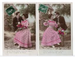 CPA - COUPLE - 2 CARTES - Couples