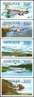 MNH STAMPS Faroe-Islands - Planes  -1985 - Faroe Islands