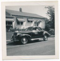4 Different Vintage Snapshots Of The Same Car, 1940 Chevy Coupé - Automobiles