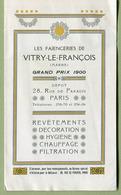 """PARIS : """" LES FAÏENCERIES DE VITRY-LE-FRANCOIS """" Dépliant Publicitaire  EXPO De NANCY 1909 - Publicités"""