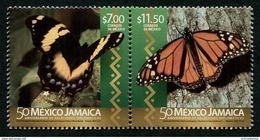 Mexico (2016) - Set -  /  Joint With Jamaica - Butterflies - Butterfly - Papillon - Mariposas - Vlinders - Butterflies