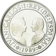 Monnaie, Espagne, Juan Carlos I, 2000 Pesetas, 1989, Madrid, FDC, Argent, KM:838 - [ 5] 1949-… : Regno