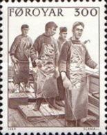 USED STAMPS Faroe-Islands - Local Fishing -1984 - Faroe Islands