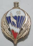 Insigne PARA , Algérie Française OAS . 18° RCP - Armée De Terre
