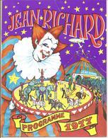 Cirque Jean Richard Programme 1977 - Programas