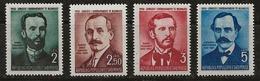 Albanie 1950 N°Y.T. :  424 à 427 * - Albania