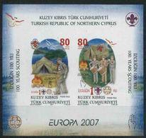 2007 Cipro Del Nord, Europa Foglietto, Serie Completa Nuova (**) - Nuovi