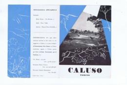 CALUSO ( TORINO ) DEPLIANT 1950s - EDIZ. FRATELLI POZZO - Tourism Brochures